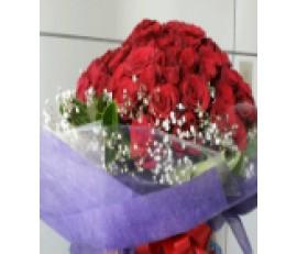 FR008(99roses)-Be mine roses!