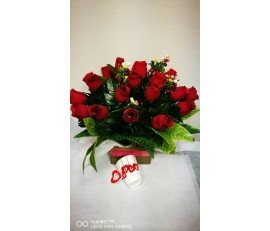 FR088(18roses+love cup)